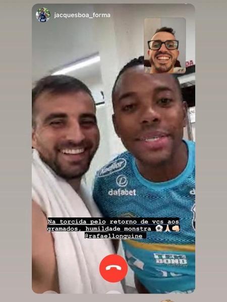 Rafael Longuyen registra la visita di Robinho a CT Rei Pelé - Riproduzione - Riproduzione