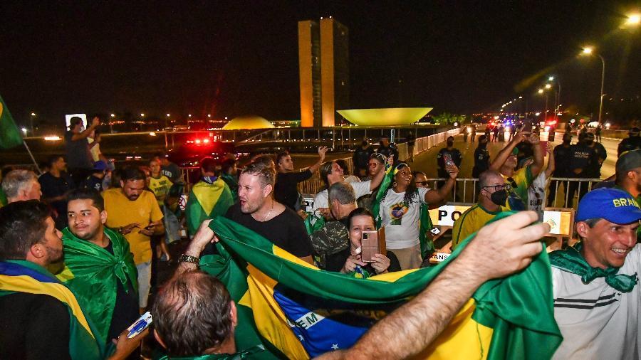 6.set.2021 - Sem oposição da PM do Distrito Federal, apoiadores do presidente Jair Bolsonaro tomam Esplanada dos Ministérios e chegam perto do Congresso Nacional - ANTONIO MOLINA/FOTOARENA/ESTADÃO CONTEÚDO
