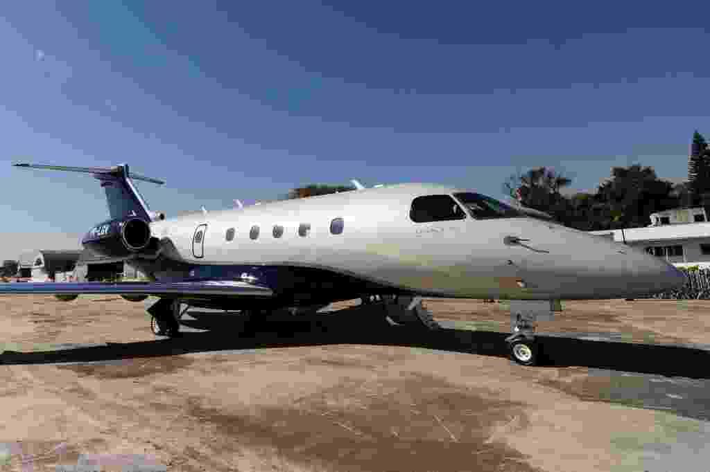 O Legacy 450, da Embraer, será um dos lançamentos da Labace, feira de aviação em São Paulo; no espaço reservado para o evento no Aeroporto de Congonhas estarão expostos, de terça (11) a quinta-feira (13), vários modelos de avião e serviços para o setor - Junior Lago/UOL