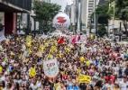 Professores protestam em São Paulo contra reformas do governo do Temer (Foto: Cris Fraga/ Fox Press/ Estadão Conteúdo )