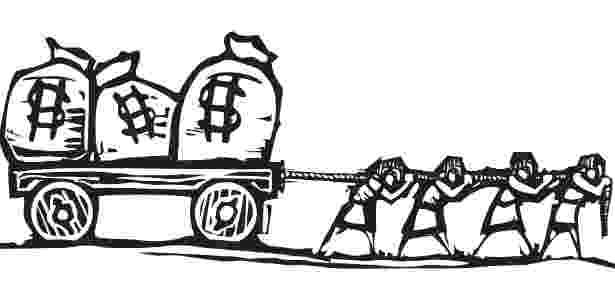 Ilustração para dinheiro de trabalho escravo - Getty Images