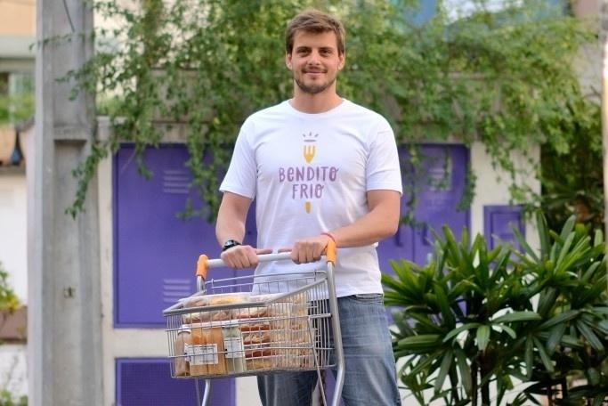 Carlos Eduardo Lucato é dono do Bendito Frio, mercado de comida ultracongelada