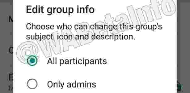 Donos de grupos terão mais poder com novidades testadas pelo WhatsApp - Reprodução - Reprodução