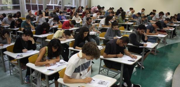 Candidatos participam da segunda fase da Fuvest, em janeiro