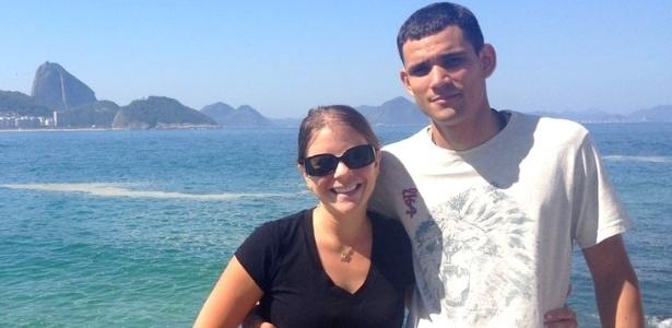Cassia e Clayton, em foto de 2014; a americana deixou o Brasil, mas luta para que o assassinato do PM seja elucidado
