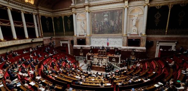 26.jun.2018 - Deputados franceses na Assembleia Nacional, em Paris - AFP PHOTO / Thomas SAMSON