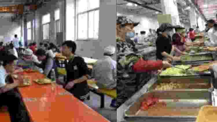 Trabalhadores reclamam de qualidade e dos preço da cafeteria na Foxconn - Divulgação/China Labor Watch - Divulgação/China Labor Watch