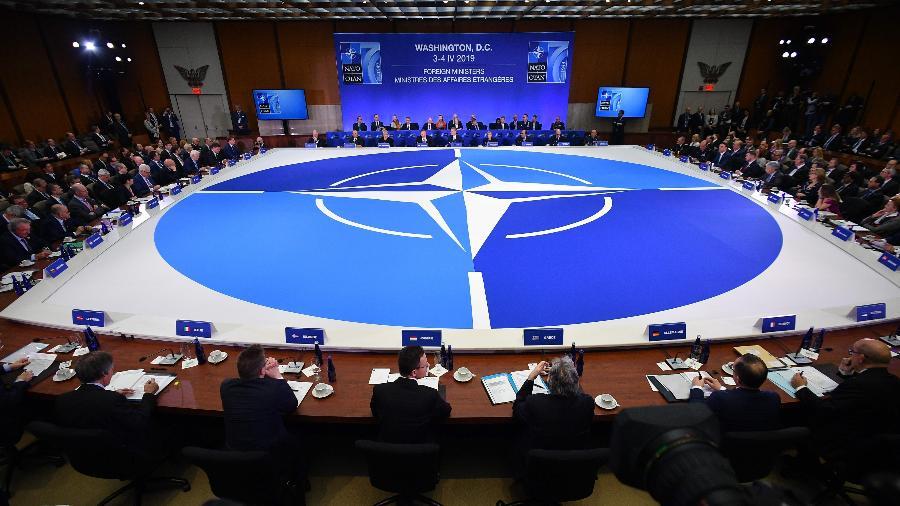 """""""A China não é mais a parceira comercial benigna que o Oeste um dia desejou"""", segundo relatório """"Otan 2030"""" - Mandel Ngan/AFP"""