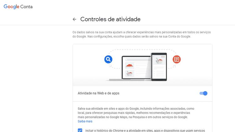 Autodestruição de histórico do Google 2 - Reprodução - Reprodução