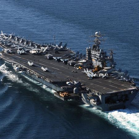 Porta-aviões USS Theodore Roosevelt da Marinha dos Estados Unidos (EUA) - US Navy/Getty Images