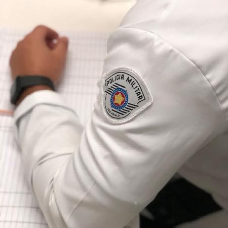 PM médico utiliza jaleco da corporação - Divulgação/PM-SP