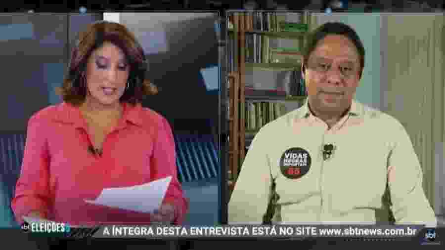 Orlando Silva (PCdoB) participa de entrevista no SBT - Reprodução/SBT