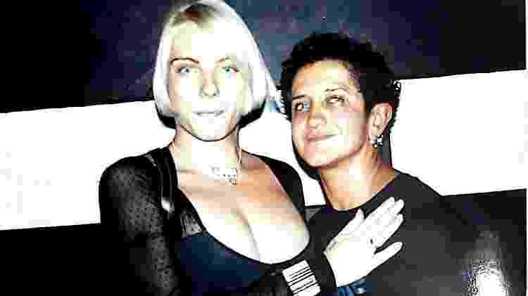 Fim dos anos 90: Gabi e Lou, na boate Mad Queen - Reprodução/Arquivo Pessoal - Reprodução/Arquivo Pessoal