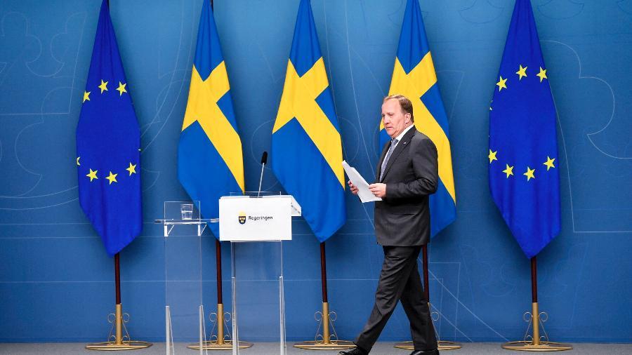 Löfven ocupa o cargo de primeiro-ministro desde 3 de outubro de 2014 - Anders Wiklund/TT News Agency/AFP