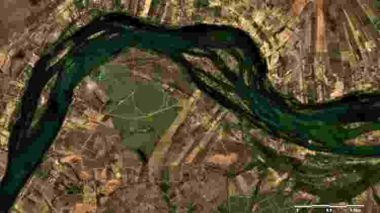 Vista de satélite da barragem de Sobradinho (BA): perdas afetam o rio São Francisco - Planet Scope/Lapis/Ufal - Planet Scope/Lapis/Ufal
