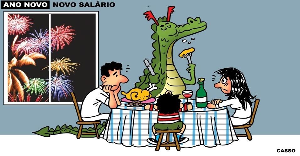 1º.jan.2016 - Uma velha conhecida se sentou na mesa da família brasileira neste Réveillon: a inflação