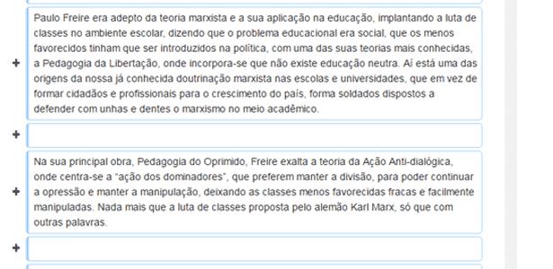 Biografia de Paulo Freire na Wikipédia foi alterada no último dia 28 por rede do governo federal - Reprodução