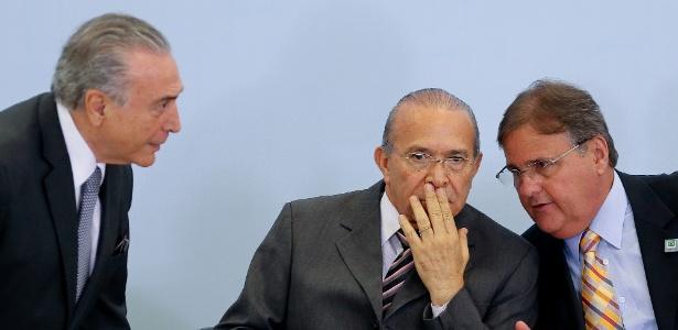 Temer (e), Padilha (c) e Geddel (d) foram denunciador pelo ex-ministro Marcelo Calero