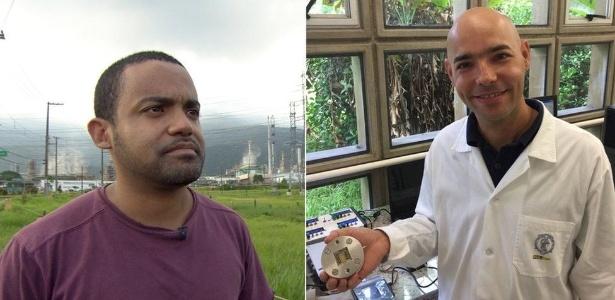 Os engenheiros Cleiton Jordão e Mauro Braga tentam encontrar soluções políticas e científicas para combate à poluição em Cubatão
