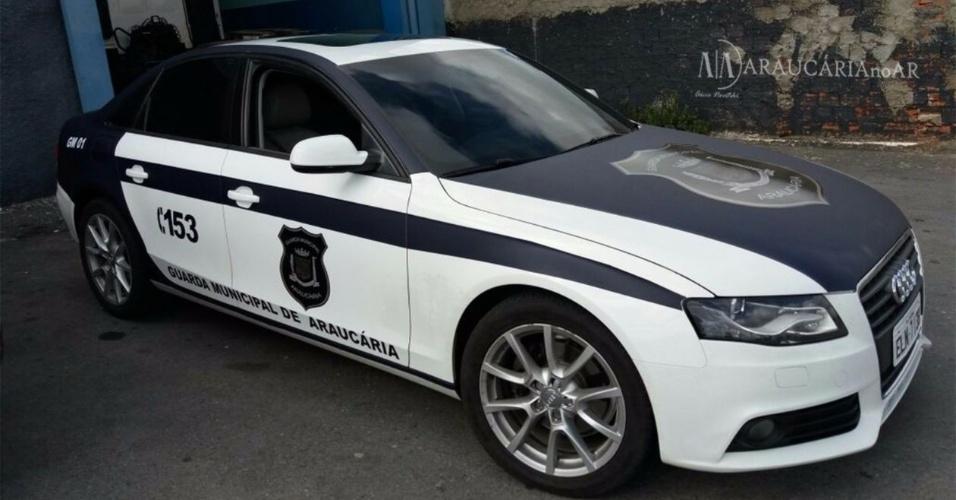 A Guarda Municipal de Araucária recebeu modelso de Audi A4 Turbo para ajudar em patrulhas