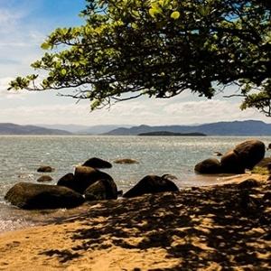 Praia do Barcela, em Florianópolis