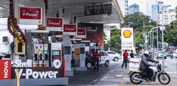 O posto de combustíveis localizado na avenida Rebouças, em Pinheiros, zona oeste de SP, onde duas pessoas foram assassinadas no último dia 3