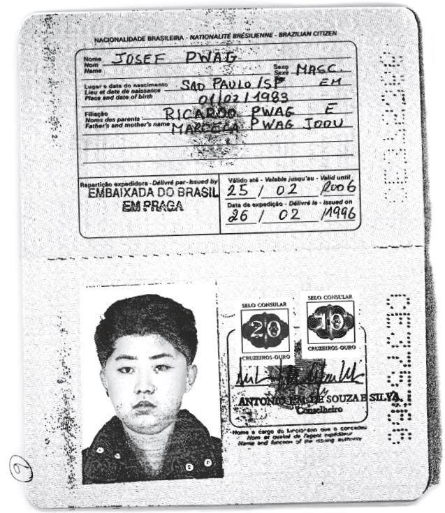 27.fev.2018 - Cópia de um passaporte brasileiro que seria usado pelo então líder norte-coreano Kim Jong-un