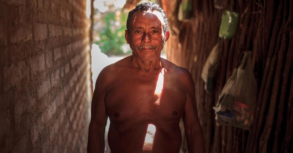 Antonio Marcelo de Brito, um dos camponeses da serra do Centro, em Tocantins, que perdem espaço para a monocultura da soja