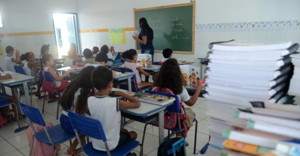 3.set.2018 - Aula em escola de ensino fundamental de Coruripe (AL)