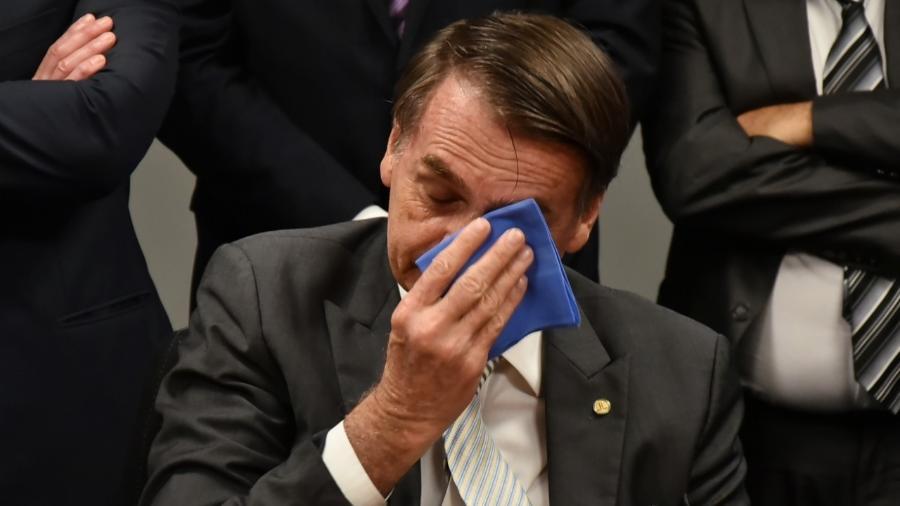 Jair Bolsonaro durante reunião com bancada evangélica ontem - Raphael Carvalho 27.nov.2018/Divulgação/Governo de Transição