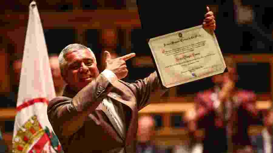 18.dez.2018 - Senador eleito Major Olímpio (PSL) é diplomado durante cerimônia realizada pelo TRE - NEWTON MENEZES/FUTURA PRESS/FUTURA PRESS/ESTADÃO CONTEÚDO