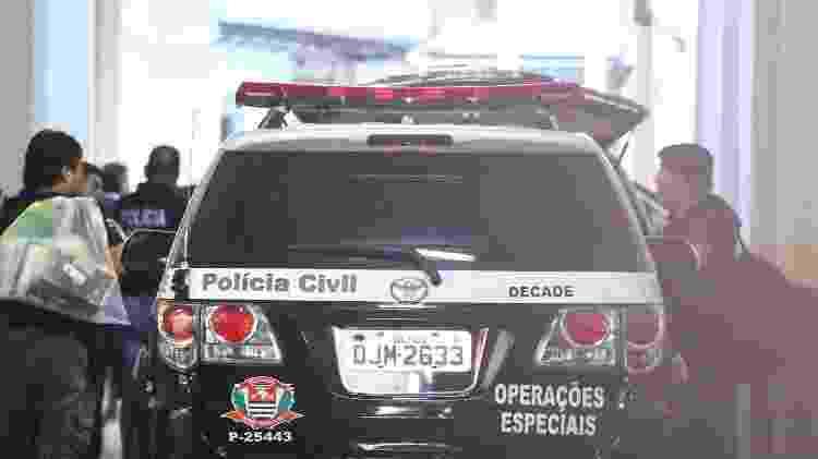Engenheiros presos em São Paulo foram levados para a sede do DHPP (Departamento de Homicídios e de Proteção à Pessoa), no centro da capital - Newton Menezes/Futura Press/Estadão Conteúdo