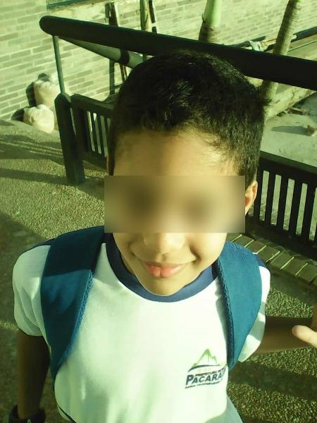 Albiery, de 9 anos, é brasileiro e filho de venezuelanos. Vive em Santa Elena com a família e, com a fronteira fechada, não consegue frequentar a escola - Arquivo pessoal