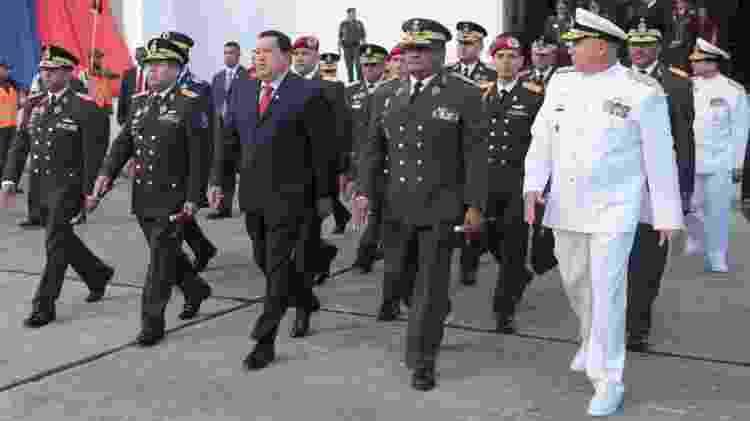 Presidente da Venezuela, Hugo Chávez, em cerimônia militar em Caracas em agosto de 2012 - Palácio de Miraflores/Arquivo - Palácio de Miraflores/Arquivo