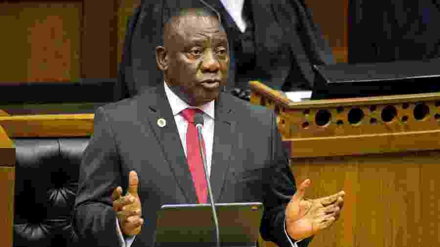 Graças ao recurso, Cyril Ramaphosa pode participar de dois eventos diferentes ao mesmo tempo - Rodger Bosch/Reuters