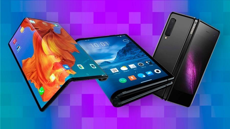 Galaxy Fold, o primeiro dobrável criado por uma gigante da tecnologia - no caso, a Samsung - Reprodução