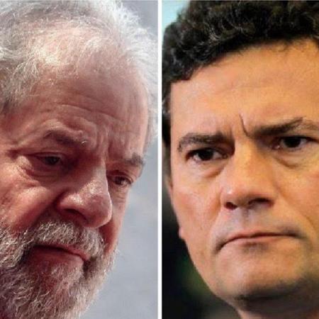 O ex-presidente Lula e o ex-ministro da Justiça, Sergio Moro - Miguel Schincariol/AFP e Sérgio Lima/AFP
