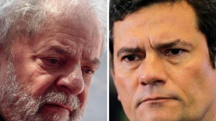 O ex-presidente Lula e o ex-juiz Sergio Moro - Miguel Schincariol/AFP e Sérgio Lima/AFP