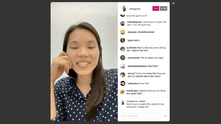 Instagram agora trazem comentários para vídeos ao vivo na versão para computador - Divulgação
