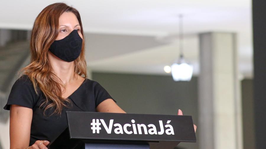Patrícia Ellen comemorou a redução de 25% das internações de leitos de UTI covi no estado - Divulgação/Governo do Estado de São Paulo