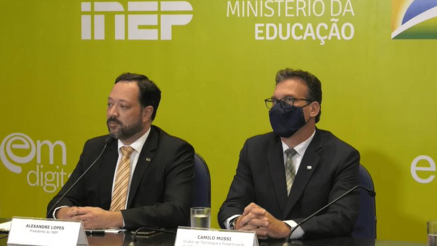 07.fev.21 - Presidente do Inep, Alexandre Lopes, apresenta balanço do Enem 2020 - Reprodução/Youtube