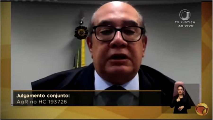 Gilmar Mendes durante o julgamento da anulação dos processos contra Lula: a defesa constante das regras do jogo contra os arbítrios da Lava Jato - Reprodução/Youtube