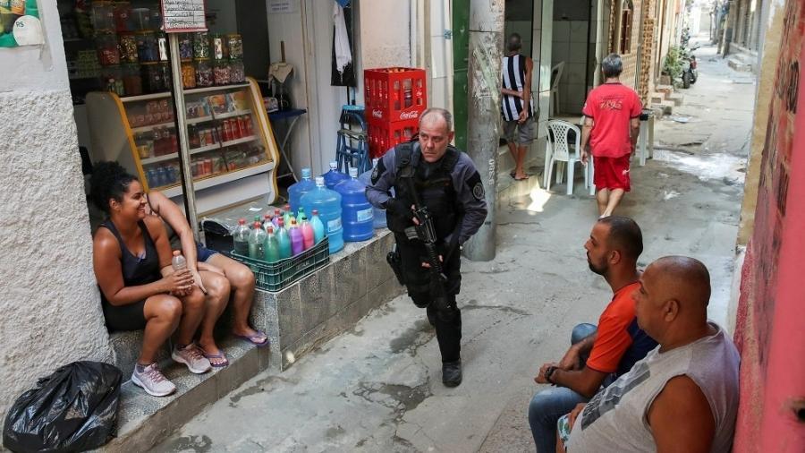 Operação contra o tráfico na comunidade do Jacarezinho, no Rio, deixou dezenas de mortos - REUTERS/Ricardo Moraes