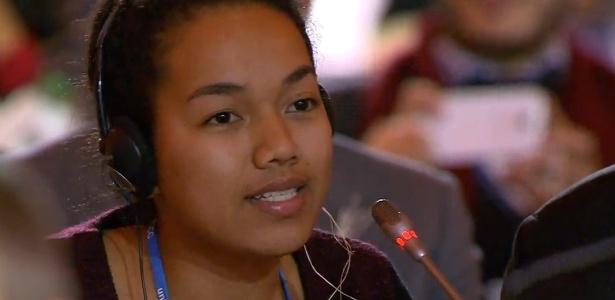 Garota de ilha ameaçada diz que sempre se preocupou com seu futuro - Reprodução
