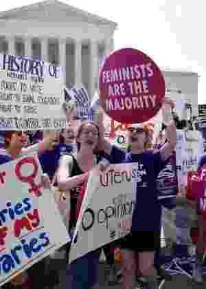 Manifestação pró-aborto nos Estados Unidos - Mandel Ngan/AFP
