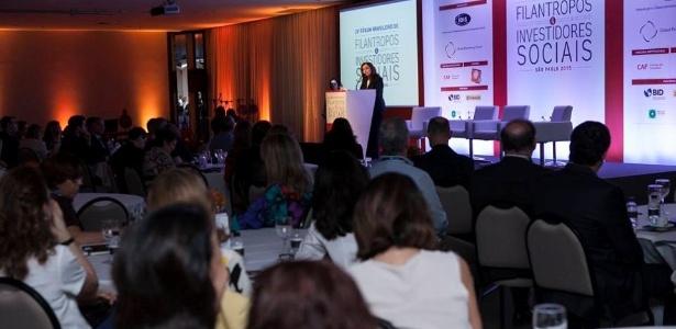 Abertura da IV edição do Fórum Brasileiro de Filantropos e Investidores Sociais, em que Elie Horn anunciou a doação de 60 % do seu patrimônio