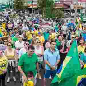 4.dez.2016 -Protesto contra a corrupção e em apoio ao Juiz Sergio Moro pelas ruas do centro de Bauru (SP), na tarde deste domingo - Olicio Pelosi/Futura Press/Estadão Conteúdo