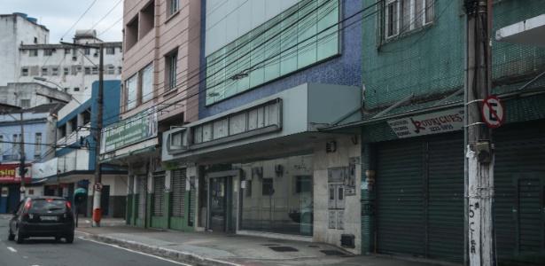 Comércio fechado na Vila Rubim, em Vitória
