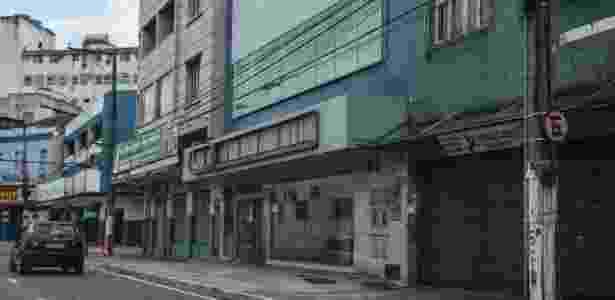 Comércio fechado na Vila Rubim, em Vitória - Gilson Borba/Futura Press/Estadão Conteúdo