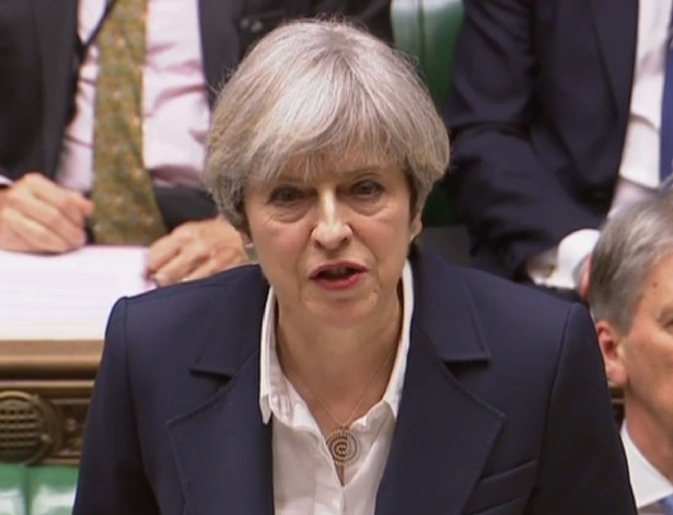Premiê britânica Theresa May fala no Parlamento no dia em que tem início a saída do Reino Unido da União Europeia